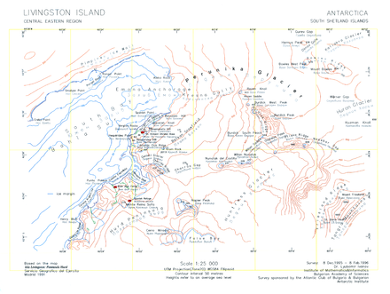 Topographic map of central-eastern Livingston Island featuring Rezen Saddle. Central-Eastern-Livingston-Map.png