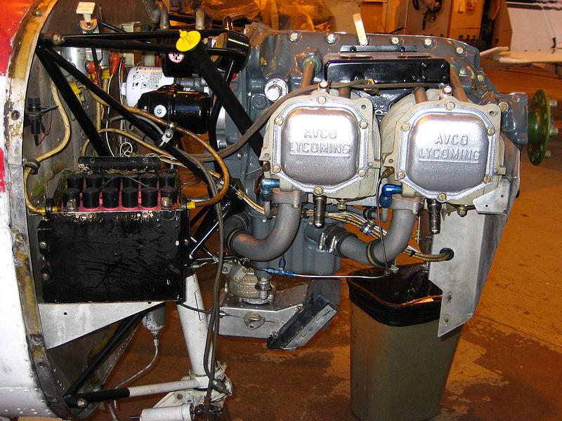 A Cessna 152 battery (lower left corner)