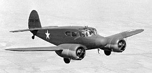 Cessna AT-17 Bobcat - UC-78 in flight