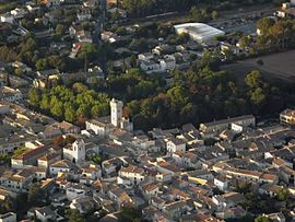 An aerial view of Lunel-Viel