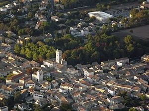 Lunel-Viel - An aerial view of Lunel-Viel