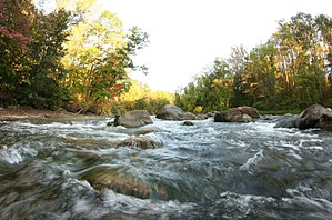 Chagrin River - Image: Chagrin River as viewed from Cleveland Metropolitan Park