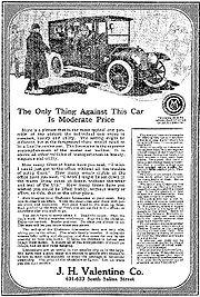 1911 Chalmers-Detroit advertisement, Limousine $3,000 - Syracuse Post-Standard, January 31, 1911
