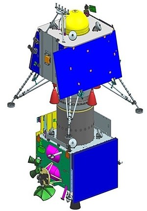 Chandrayaan-2 lander and orbiter integrated stack.jpg