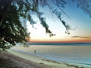 Changi - Sunset at Changi Beach