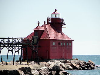 The channel light guides watercraft from Lake Michigan into the Sturgeon Bay Ship Canal. Door County ... & Door County \u2013 Travel guide at Wikivoyage