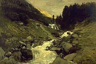 The cascade of Mahoura, Cauterets