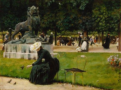 Charles Courtney Curran - Dans le Jardin du Luxembourg (1889)