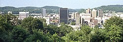 Downtown Charleston, West Virginia in August 1992.