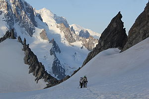 Chasseurs Alpins - Training of Chasseurs Alpins on the Mont Blanc massif.
