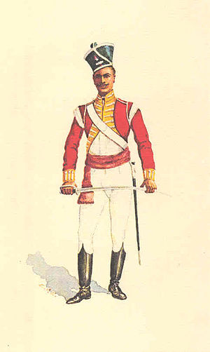 Presidency armies - Subedar of the 21st Bengal Native Infantry (1819)