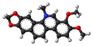 Chelerythrine - Image: Chelerythrine 3D ball