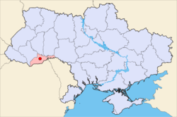 Location of Çernivtsi