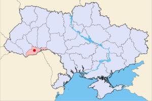 Чернівці на мапі України