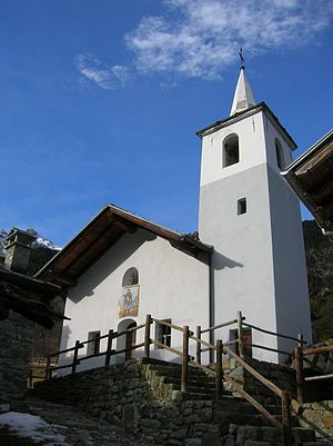 Champdepraz - Village church in La Veulla, Champdepraz.