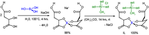 Aza-Baylis–Hillman reaction - Synthesis of chiral ionic liquid, oct = octyl group