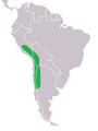 Chloephaga melanoptera range map.png