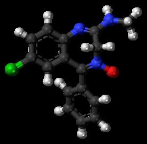 Chlordiazepoxide molecule ball