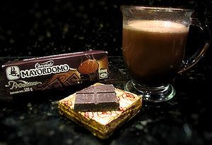 Mayordomo - A mug of hot chocolate made with Mayordomo chocolate bars.