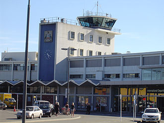 Christchurch International Airport - The former 1960 terminal building and control tower designed by Paul Pascoe