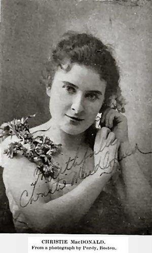 Christie MacDonald - Christie MacDonald,  The Opera Glass, 1898