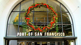 Port of San Francisco - Image: Christmas Wreath, Port of San Francisco, 5 December, 2011