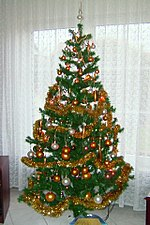an artificial christmas tree - A Christmas Tree
