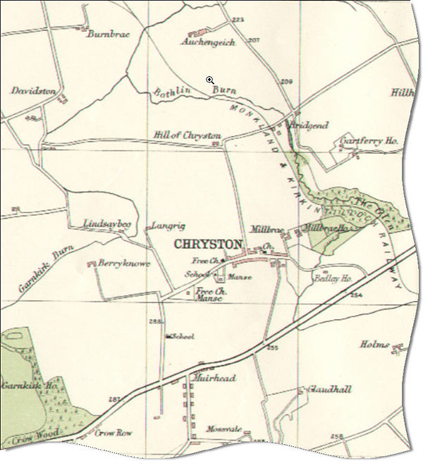 Map of Chryston in 1923