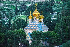 Christianity in Israel - Orthodox Church of Mary Magdalene in Jerusalem.