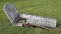 Church of St Nicholas, Fyfield, Essex, England - churchyard barrel top grave.jpg