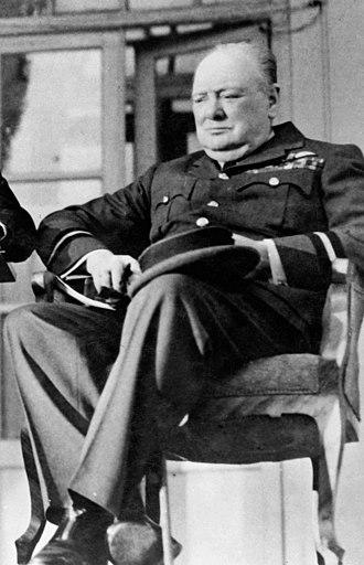 Air commodore - Churchill in his air commodore's uniform at the 1943 Tehran Conference