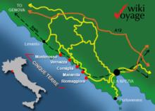 karte italien cinque terre Cinque Terre – Wikipedia