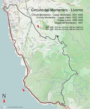 Circuito del Montenero - Circuito Montenero 1922
