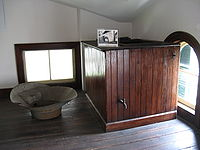 The Cistern and Washbasin Located on the Top Floor of the Bellamy Mansion.