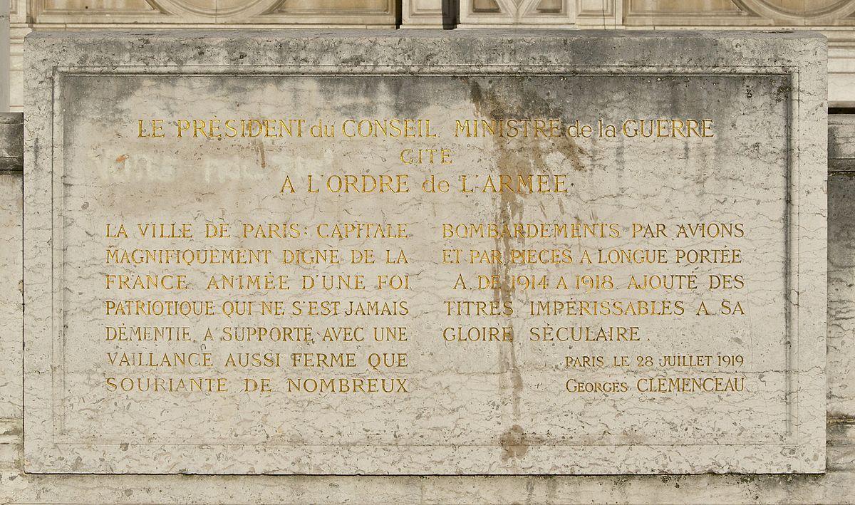 File Citation Paris Ordre Armee 1914 1918 Clemenceau Jpg