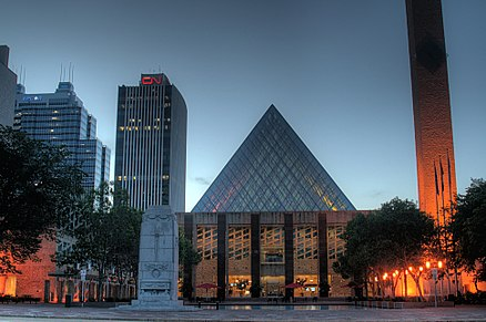 Edmonton City Hall is the home of the municipal government for Edmonton. City-Hall-Edmonton-Alberta-Canada-03-A.jpg