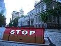 City Hall risen underground barricade jeh.jpg