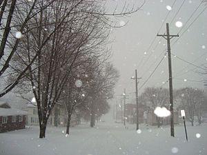 Clarinda, Iowa - Image: Clarindasnow