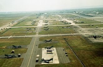 Clark Air Base - Image: Clark Air Base aerial 1989