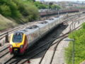 Class 221 Virgin Voyager eastbound from Bristol Parkway 2006-05-03 03.jpg