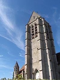 Clocher de l'Eglise de l'Assomption à Haravilliers.JPG