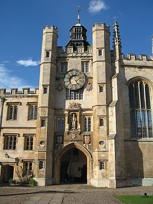 Trinity College Clock - King Edward's Gate, Great Court, Trinity College, Cambridge