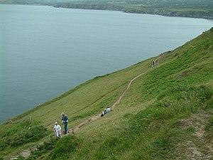 Dinas Island - The coastal path on Dinas Island, near Dinas Head