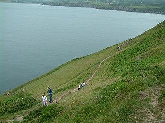 Dinas Island - The coastal path near Dinas Head