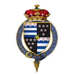 Coat of arms of Sir Thomas Grey, 2nd Marquess of Dorset, KG.png