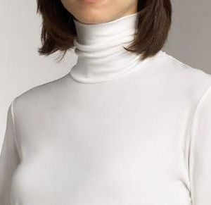 Unfolded turtleneck