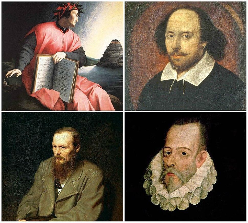 Collage Europeans Novelists