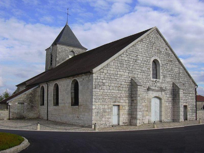 Church of Colombey-les-Deux-Églises (Haute-Marne, Champagne-Ardenne, France).