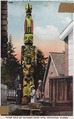"Color post card. ""Totem pole of Thlinget Chief Kian. One of the most noted of the totem poles of Ketchikan is the... - NARA - 297719.tif"
