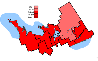 Canadian federal election results in Central Ontario - Liberal Party of Canada